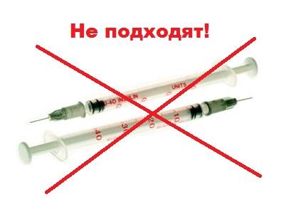 Инсулиновые шприцы для животных